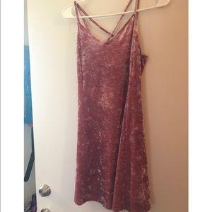 Pink Velvet Mini Dress M